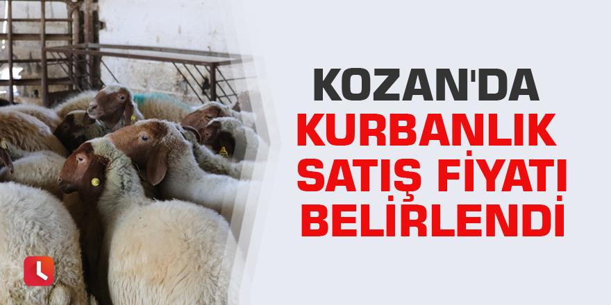 Kozan'da kurbanlık satış fiyatı belirlendi